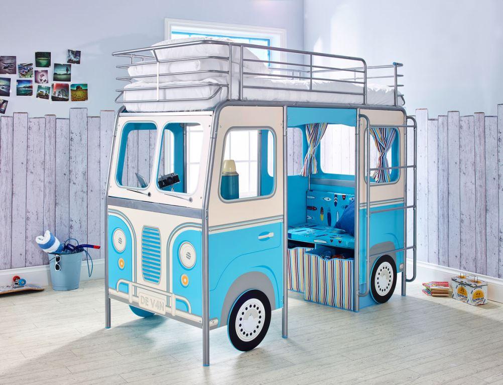 Autocamper køjeseng blå børneseng (190cm) kr. 6.495   på lager til ...