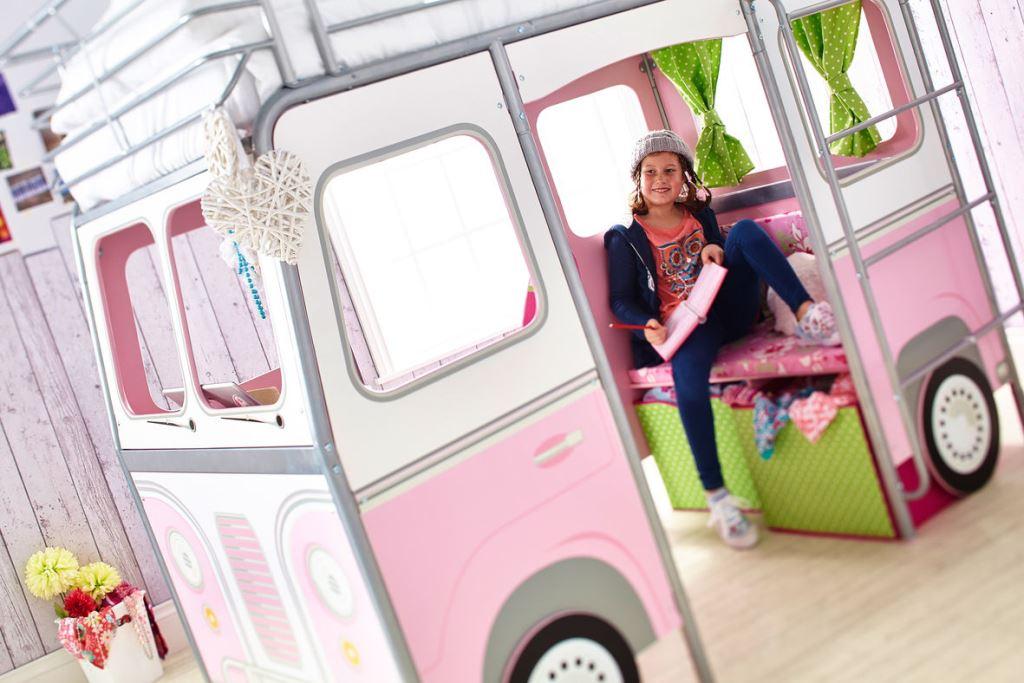 Autocamper køjeseng pink børneseng (190cm) kr. 6.495   på lager ...