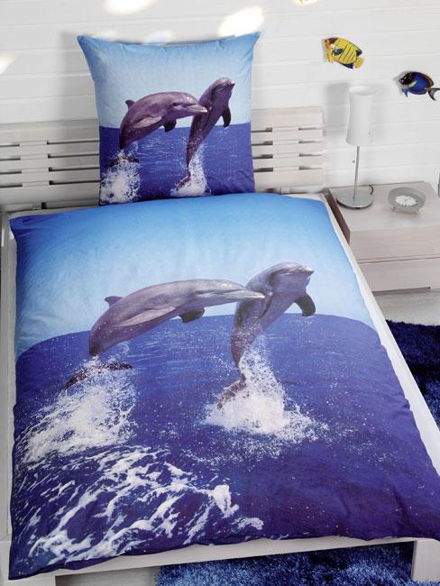 delfin senge Delfiner Sengetøj (100 procent Bomuld) (Udgået) delfin senge