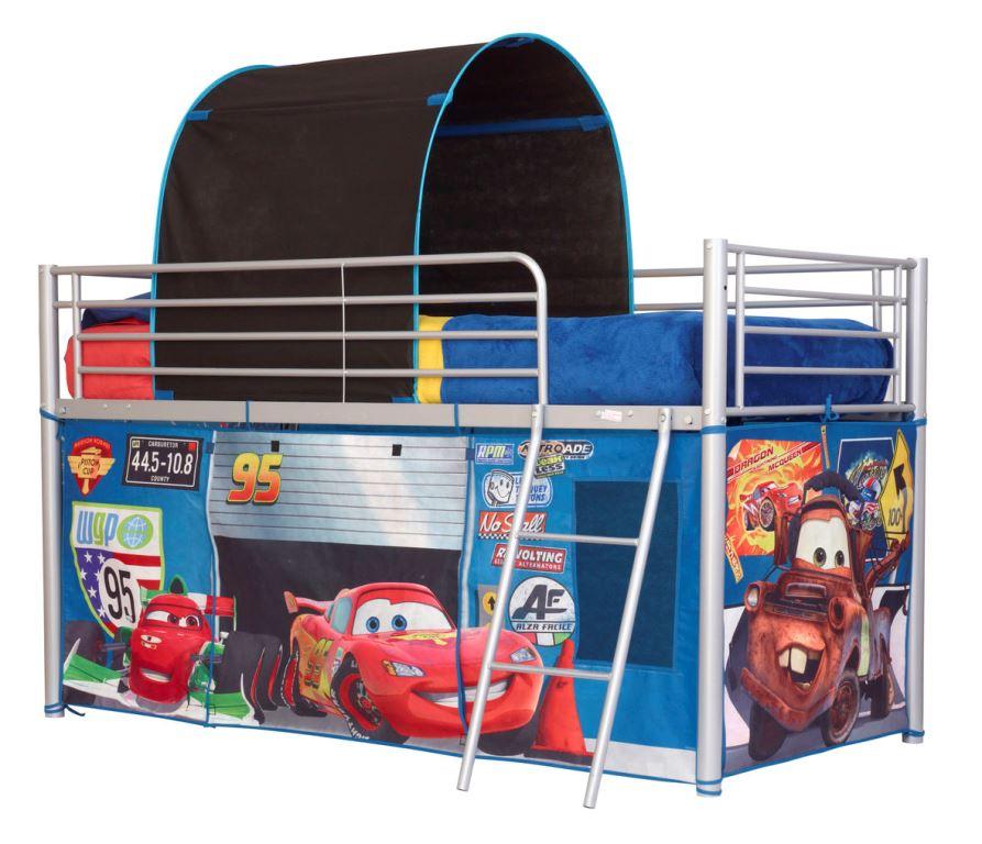 Disney biler telt og baldakin til halvhøj køjeseng (190cm) kr. 549 ...