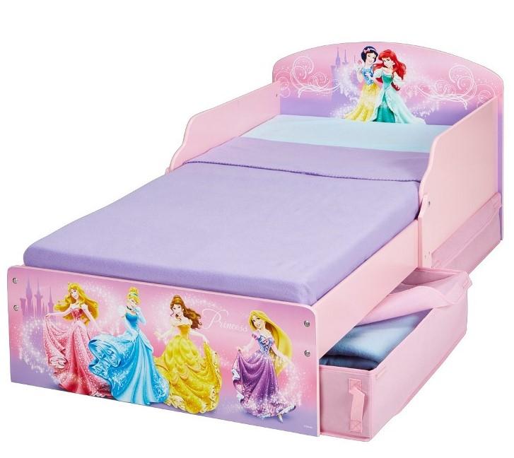 Disney prinsesse junior træ seng m/opbevaring (140cm) kr. 1.499 ...