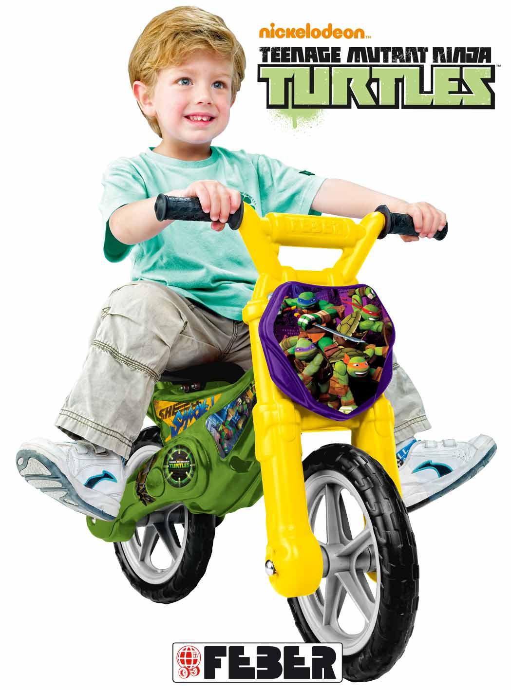 Feber Ninja Turtles Løbecykel Kr. 399 - på lager til omgående levering