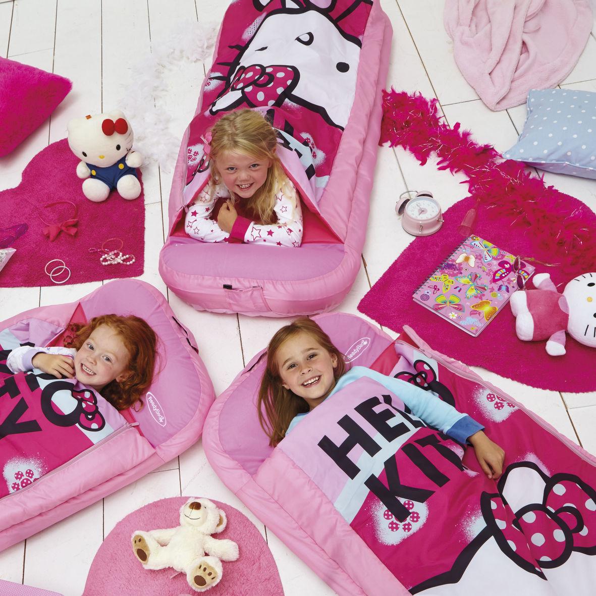 Hello Kitty Junior ReadyBed Gæsteseng m/Sovepose (Udgået)