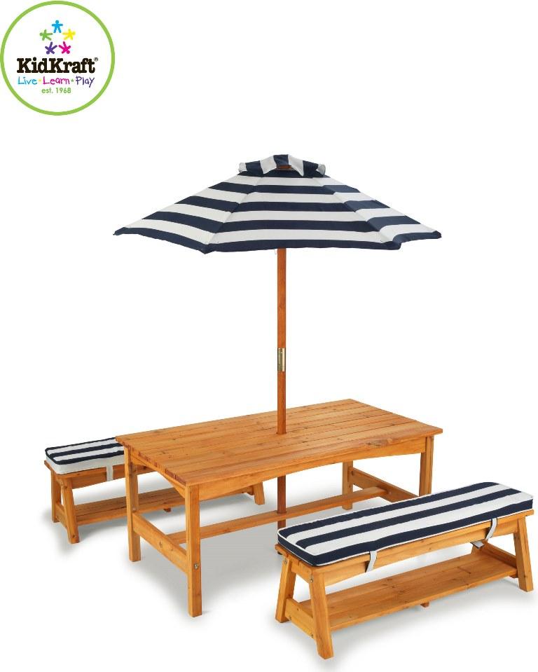 KidKraft Have bord og bænke m/parasol til børnene Kr. 1.599 - på ...