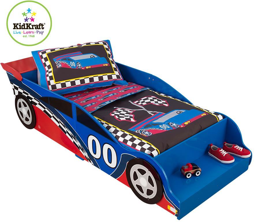 racerbil seng KidKraft Racerbil Træ Børneseng (140cm) Kr. 1.649   på lager til  racerbil seng