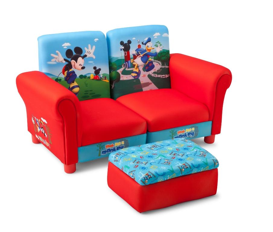 Mickey Mouse Polstret Sofa Stole Til 2 B 248 Rn Med Fodskammel