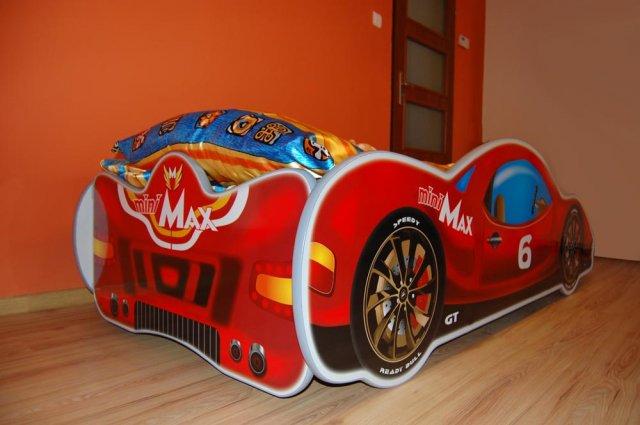 Minimax træ børne seng, rød m/led og madras kr. 1.995   på lager ...
