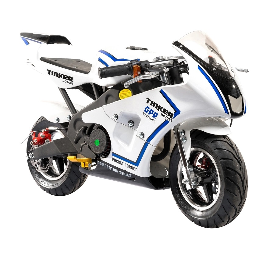 pocket bike racer 49cc bl kr p lager til. Black Bedroom Furniture Sets. Home Design Ideas