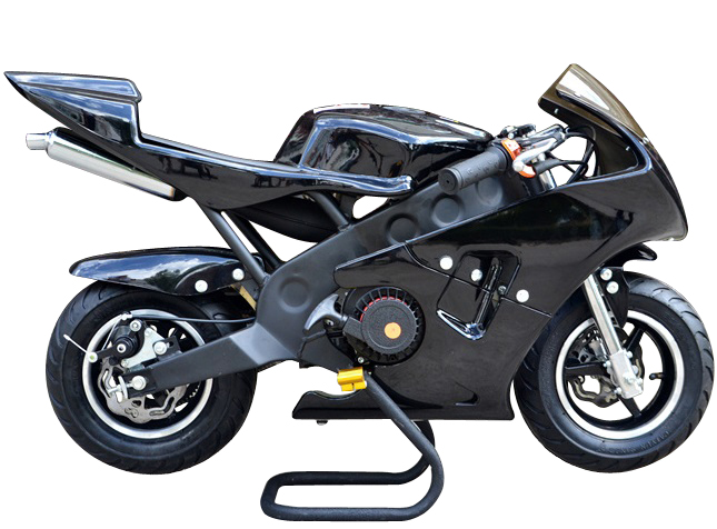 pocket bike racer 49cc sort kr p lager til. Black Bedroom Furniture Sets. Home Design Ideas