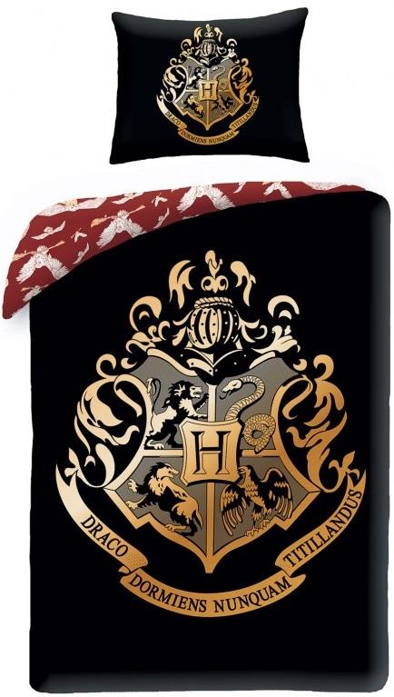 harry potter sengetøj Harry Potter Hogwarts Black Sengetøj 2i1 Design   100 Procent  harry potter sengetøj