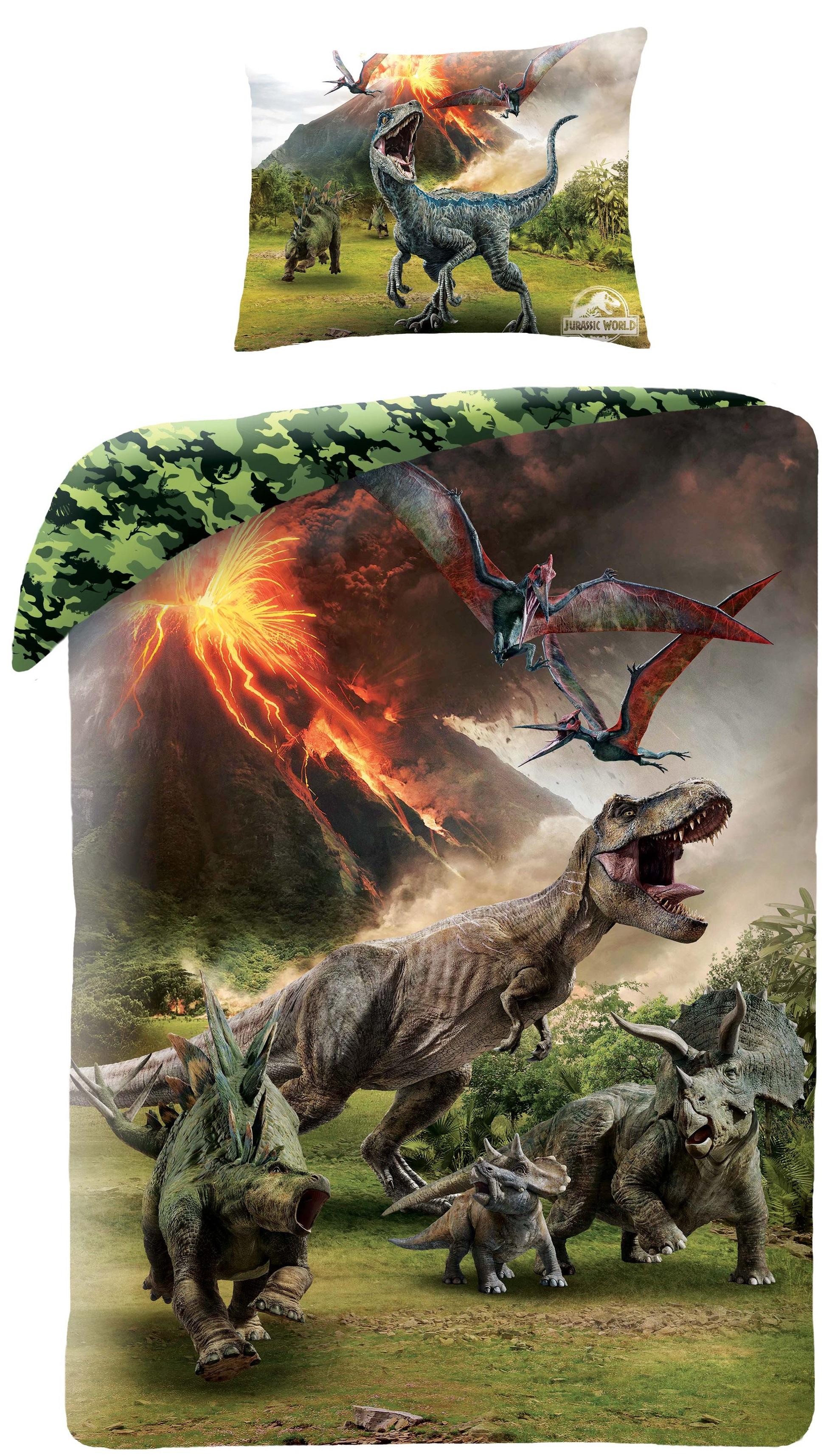 dc1ce1558b5 Jurassic World Dinosauar Sengetøj 2i1 Design - 100 Procent Bomuld Kr ...