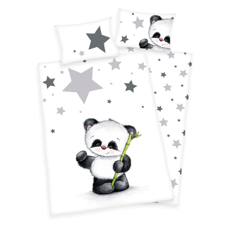 3405bca3b9f Panda Junior Sengetøj 100x135 cm - 100 procent bomuld Kr. 179 - på ...