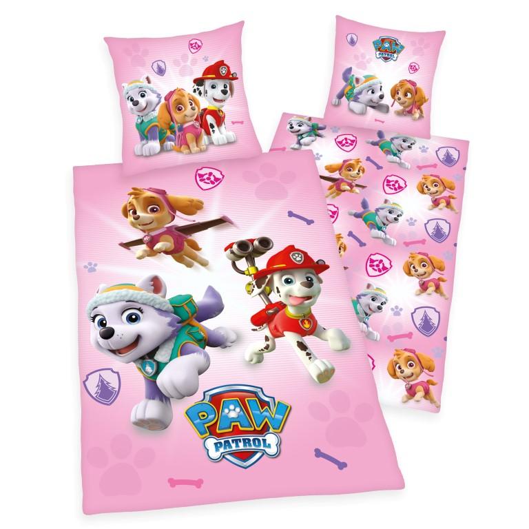 Fin Paw Patrol Pink Sengetøj - 100 procent bomuld Kr. 299 - på lager KQ-11