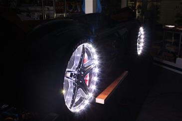 Speedy Turbo Tech Bilseng med LED-Lys og Lydpakke, sort-6