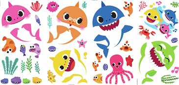 Baby Shark Wallstickers-5