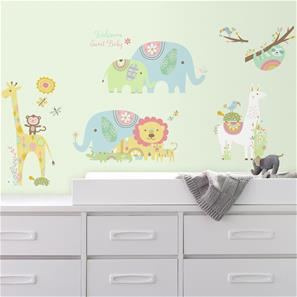Baby dyr wallstickers
