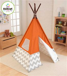 KidKraft Indianertelt Tipi Orange-2