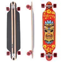 Longboard 41 ''DROP TROUGH RACE'' Skateboard m/LED Lys, HAWAII