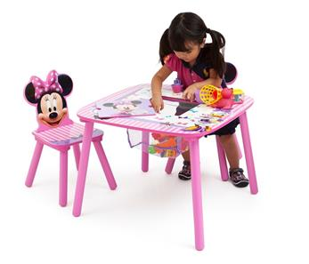 Minnie Mouse Bord m/opbevaring og Stole-3