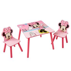 Minnie Mouse pink bord med stole-2
