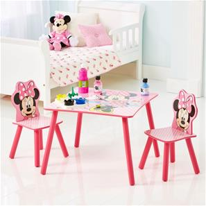 Minnie Mouse pink bord med stole-3