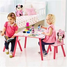 Minnie Mouse pink bord med stole-4