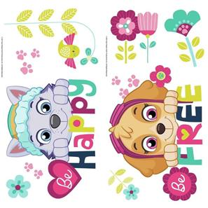 Paw Patrol Skye og Everest Be Happy Wallstickers-2