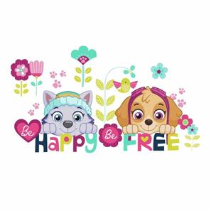 Paw Patrol Skye og Everest Be Happy Wallstickers-3