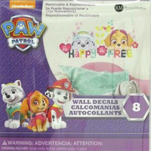 Paw Patrol Skye og Everest Be Happy Wallstickers-4