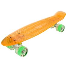 Maronad Retro Minicruiser Transparent Skateboard  m/LED Lys ABEC7,Orange