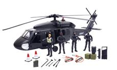 S.W.A.T. Black Hawk helikopter inkl. 4 actionfigurer 1:18