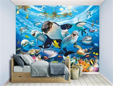 Sea Adventure / Under havet tapet 243 x 305 cm