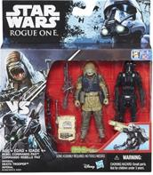 Star Wars R1 Twin Rebel Commando Pao & Death Trooper figurer 9,5cm