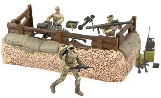 World Peacekeepers 1:18 Militær Forsvars enhed inkl. 3 actionfigurer