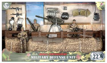 World Peacekeepers 1:18 Militær Forsvars enhed inkl. 3 actionfigurer-2