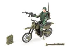 World Peacekeepers 1:18 Militær Actionfigur + Dirtbike