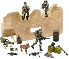 World Peacekeepers 1:18 Militær Angrebsstyrke inkl. 3 actionfigurer