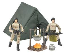 World Peacekeepers 1:18 Militær Camp pakke m/2 actionfigurer