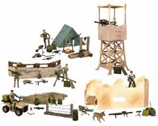 World Peacekeepers 1:18 Militær checkpoint inkl. 5 Actionfigurer