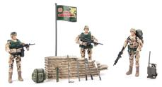 World Peacekeepers 1:18 Militær Desert Marine pakke m/3 actionfigurer