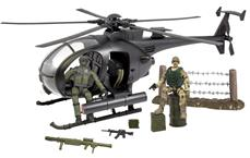 World Peacekeepers 1:18 Militær Kamp Helikopter inkl. 2 actionfigurer