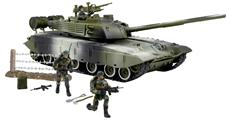 World Peacekeepers 1:18 Militær Main Battle Tank inkl. 3 actionfigurer