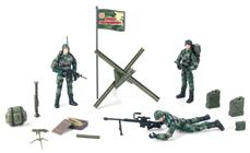 World Peacekeepers 1:18 Militær Marine pakke m/3 actionfigurer