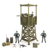 World Peacekeepers 1:18 Militær Udkigstårn m/3 actionfigurer