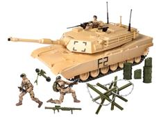 World Peacekeepers 1:18 Militær Tank inkl. 3 actionfigurer